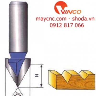 "Dao CNC  ""V""TYPE SLOTTING CUTTER"