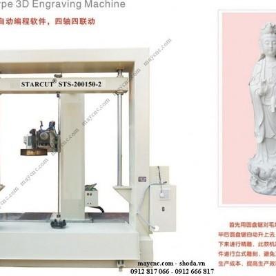 Video hoạt động của máy CNC cắt khắc đá.