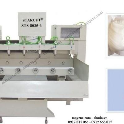 Video hoạt động của máy CNC đục tượng đá.